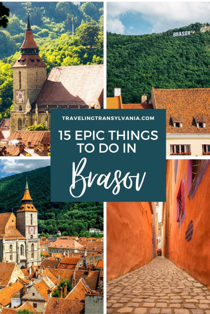 Pinterest graphic - 15 epic things to do in Brasov.