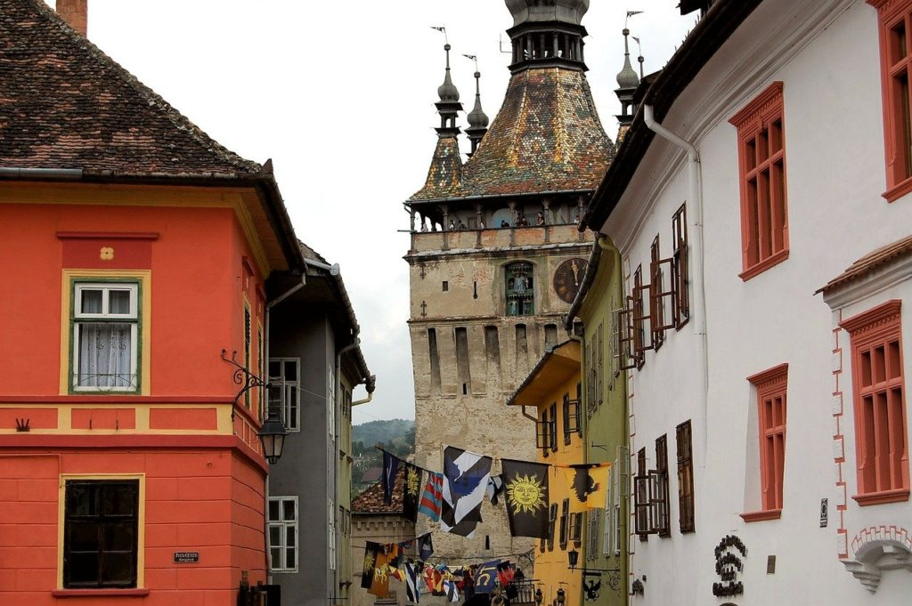 Old Town of Sighisoara, a Transylvanian Saxon city, birthplace of Vlad Dracul Tepes.