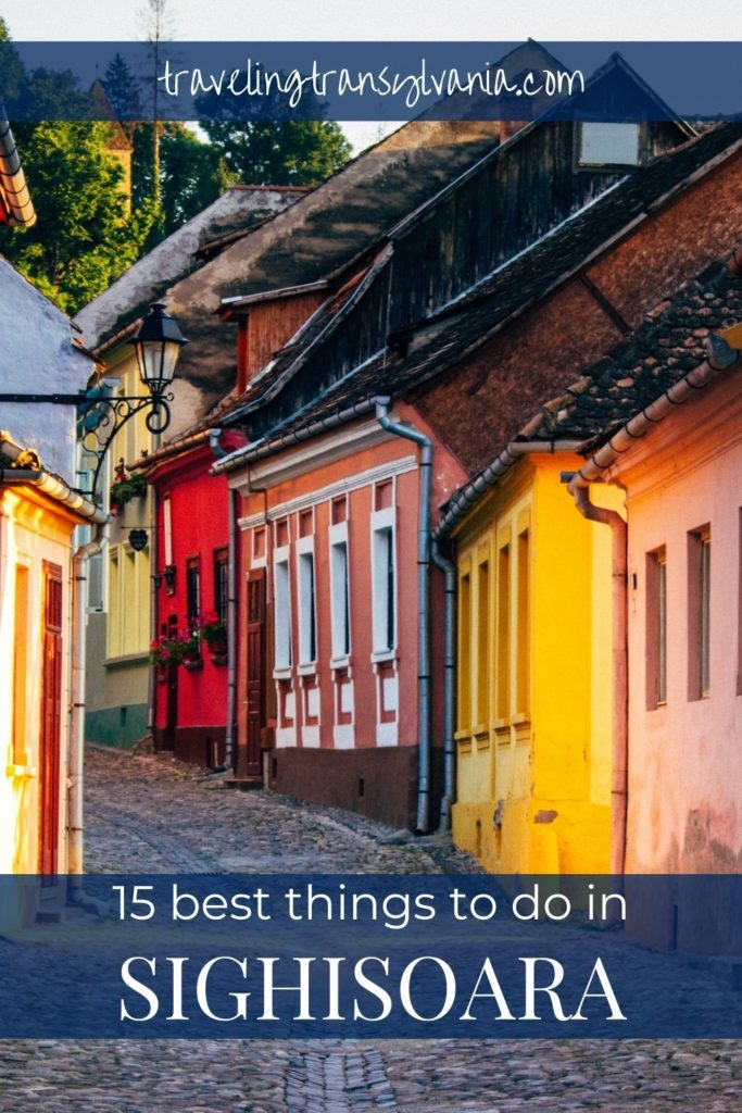 Pinterest graphic - 16 best things to do in Sighișoara.