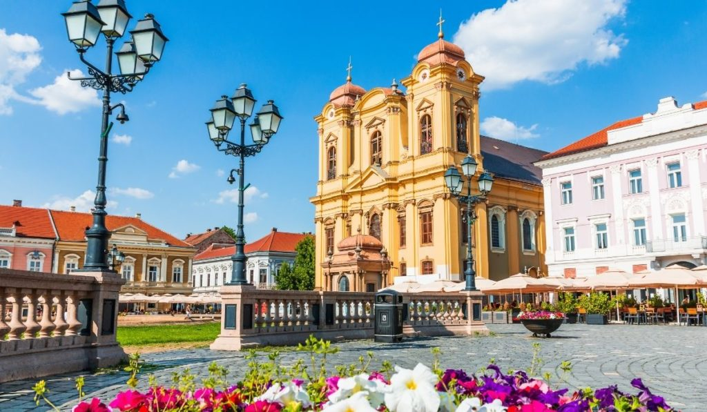 St. George's Cathedral in Timisoara, Romania, a picturesque city in NW Romania.