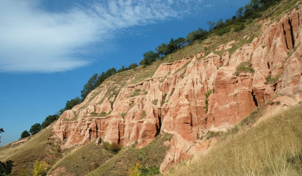 Stunning red rock formations at Rapa Rosie, Alba, Romania. Two hour drive from Sibiu, the perfect day trip.